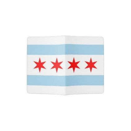 Passport Holder with flag of Chicago USA - stylish gifts unique cool diy customize