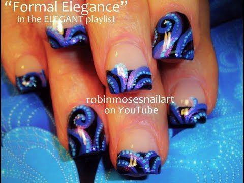 Fun Nails! | DIY Easy Octopus Nail Art Tutorial | Elegant Blue Tentacle Nail Design - YouTube