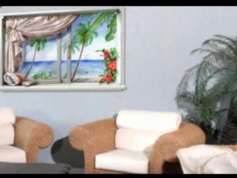 Decorare le pareti di casa con un trompe l'oeil fai da te in versione moderna. Si tratta dell'applicazione di un tatuaggio da muro. L'aspetto finale è molto ...