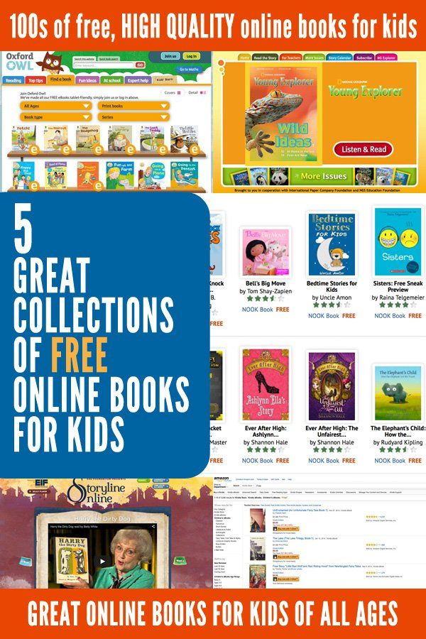5 great collections of free online books for kids - Kid Free Books