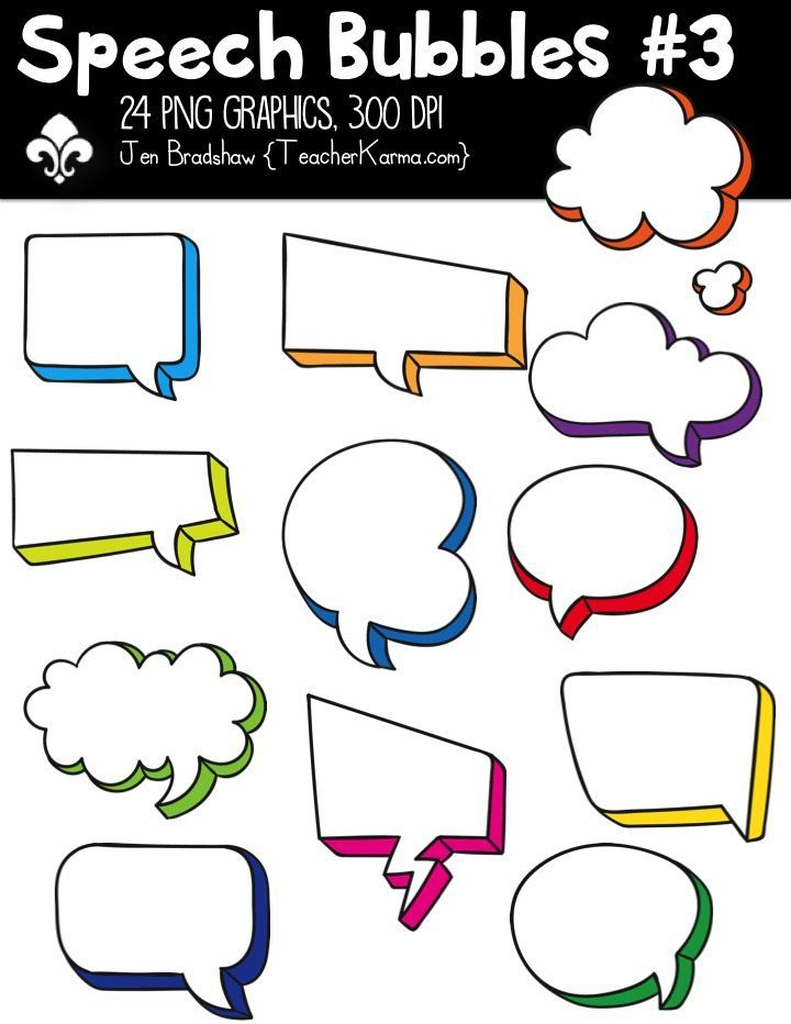 It's just a graphic of Transformative Speech Bubble Printable