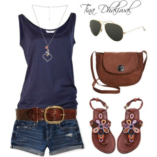 casual summer look by tinadhaliwal on Polyvore #casualsummeroutfits