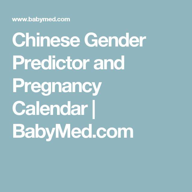 Chinese Gender Predictor and Pregnancy Calendar | BabyMed.com