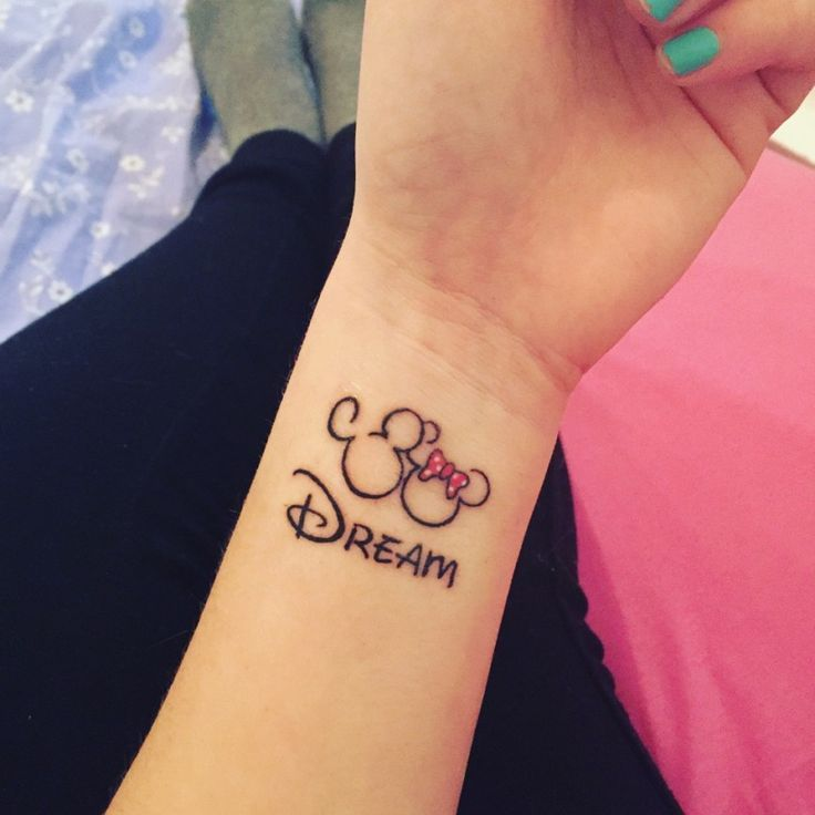 dream 🐭✨❤️, dream, minnie, mickey, disney, tatoo. Upliked by Alyssa85 – – #smalltattoos