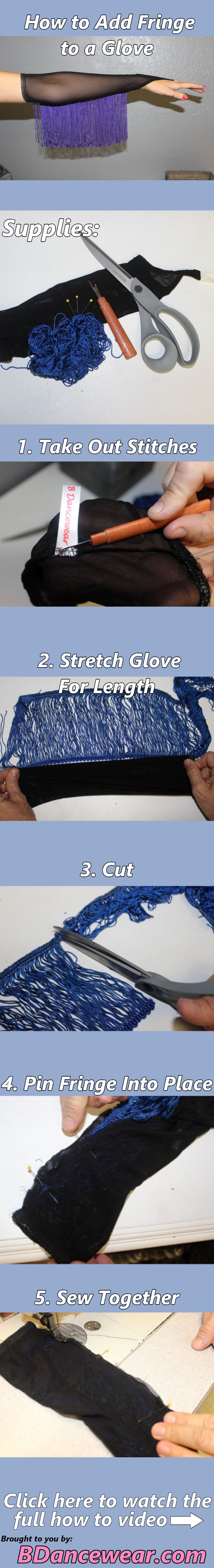 DIY Dance Costume How to Add Fringe to a Glove