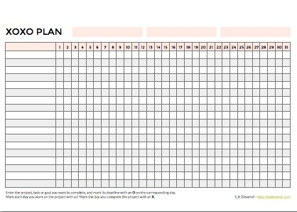 XOXO Planner (PDF) This is a really simple little project planner that helps you see: How your deadlines are spread across a month – so you don't overbook or outpace yourself. How many days it takes you to complete a project – so you can get better at allocating time to projects. How good you…
