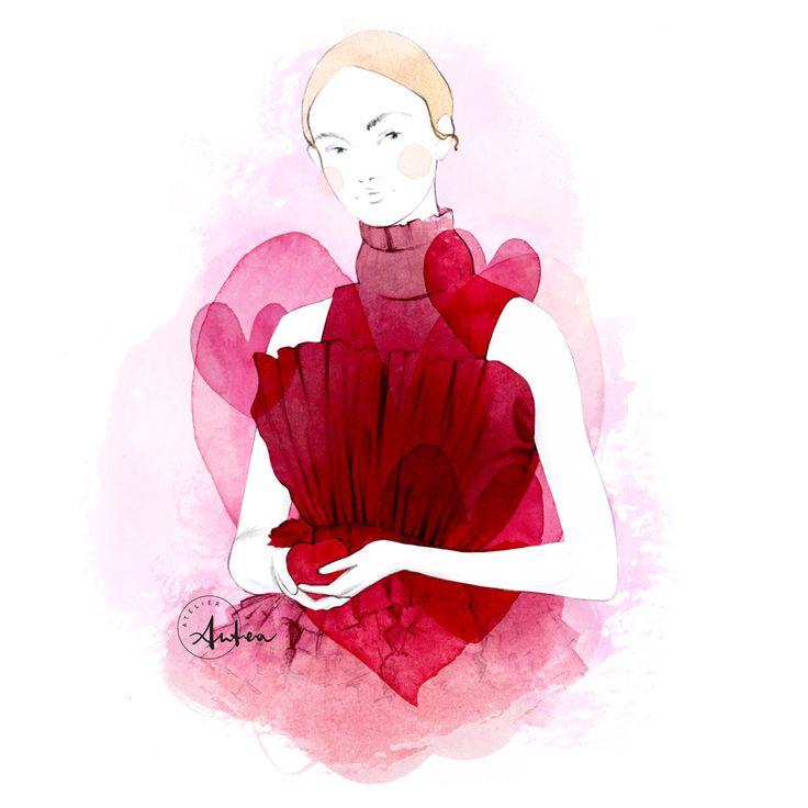 San Valentino fashion illustration by Camilla Locatelli