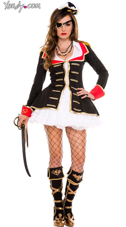Cute Captain Costume, Sexy Pirate Captain Costume, Sexy -6942