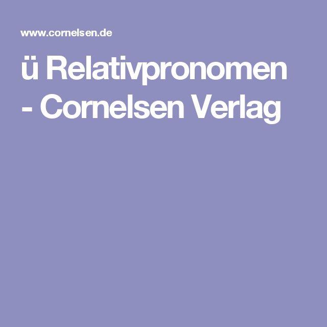 ü Relativpronomen - Cornelsen Verlag