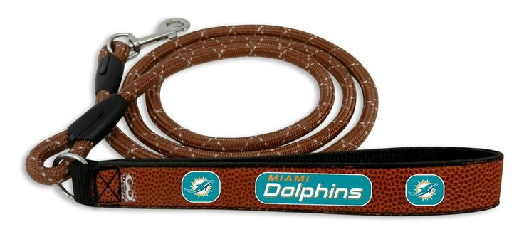 Miami Dolphins Football Leather Leash - L