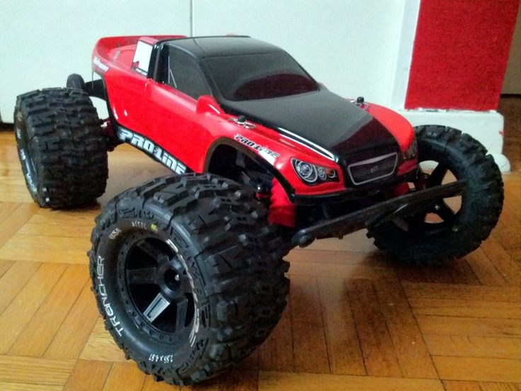 Modified Rustler  I have these tires on my stampede with different rims.  They have so much traction