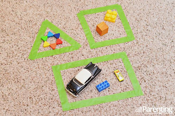 Activities that will prepare your child for kindergarten: Shape sorting activity