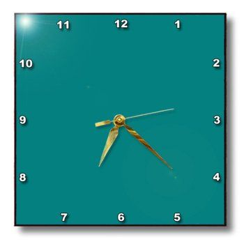 Special Offers - 3dRose dpp_31987_2 Cool Teal Wall Clock 13 by 13-Inch - In stock & Free Shipping. You can save more money! Check It (March 27 2016 at 04:52AM) >> http://wallclockusa.net/3drose-dpp_31987_2-cool-teal-wall-clock-13-by-13-inch/