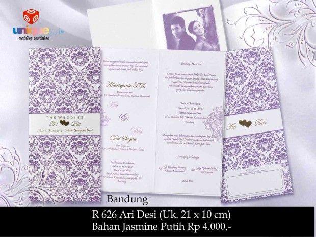 Undangan Pernikahan – Softcover R626 || Unique Card Wedding Invitation