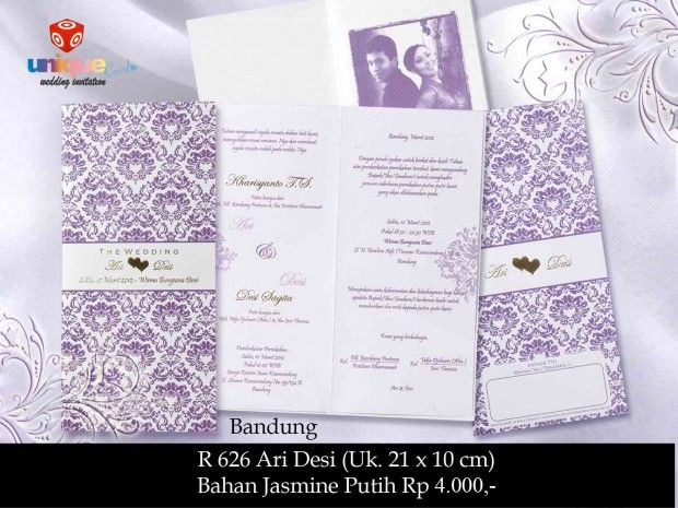 Undangan Pernikahan – Softcover R626 || Unique Card Wedding Invitation