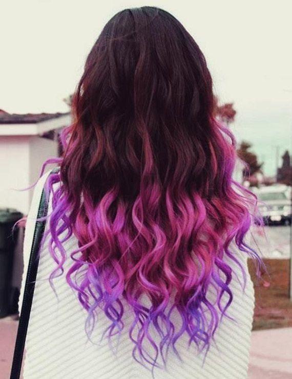 punte capelli viola