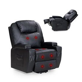 Description: Our recliner chair is high quality, well functional and extremely comfortable. It is suitable for office, living room, ideal for stiff muscle relax, pain and anxiety even tiredness relief which of improving sleep, finally reaching the highest energy levels as well. Traditional design and theupholstered high grade bonded leather makes your home more classic. […]