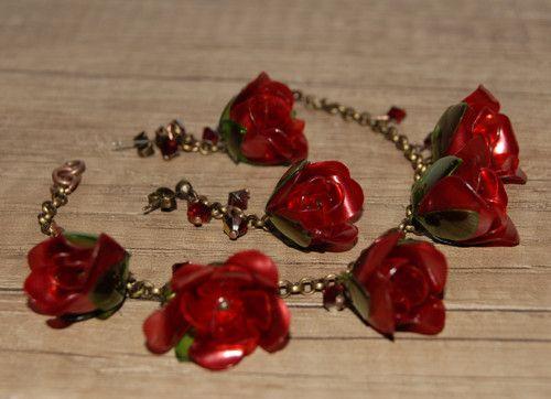 Romantic-růže (z pet lahví)