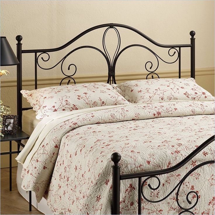 hillsdale milwaukee spindle headboard in brown wrought iron
