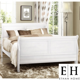 a full size white sleigh bed has a fresh yet classic feeling thats perfect for - Full Size White Bed Frame