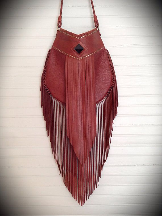 Brown Aurora Fringe Bag by nativerainbow on Etsy