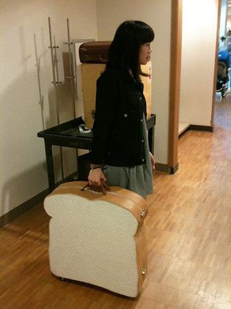 sliced bread suitcase
