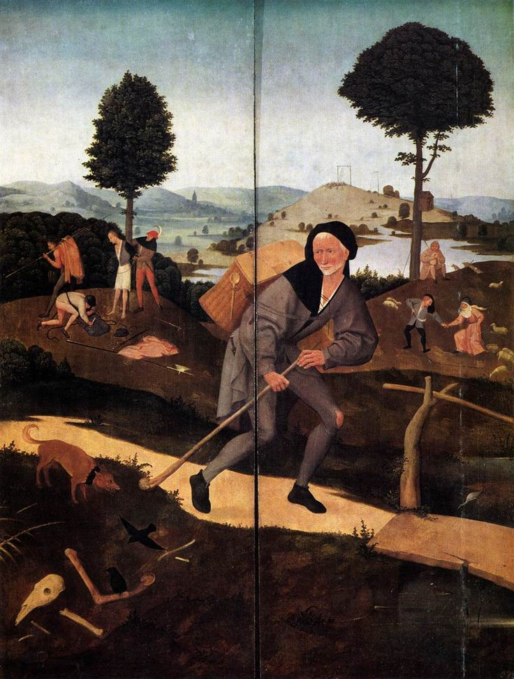 Triptych of Haywain (outer wings)  - Hieronymus Bosch, 1500