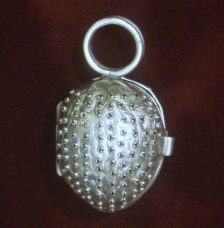 RARE Sterling Nutmeg Grater, Early Victorian Solid Silver Nutmeg Rasp