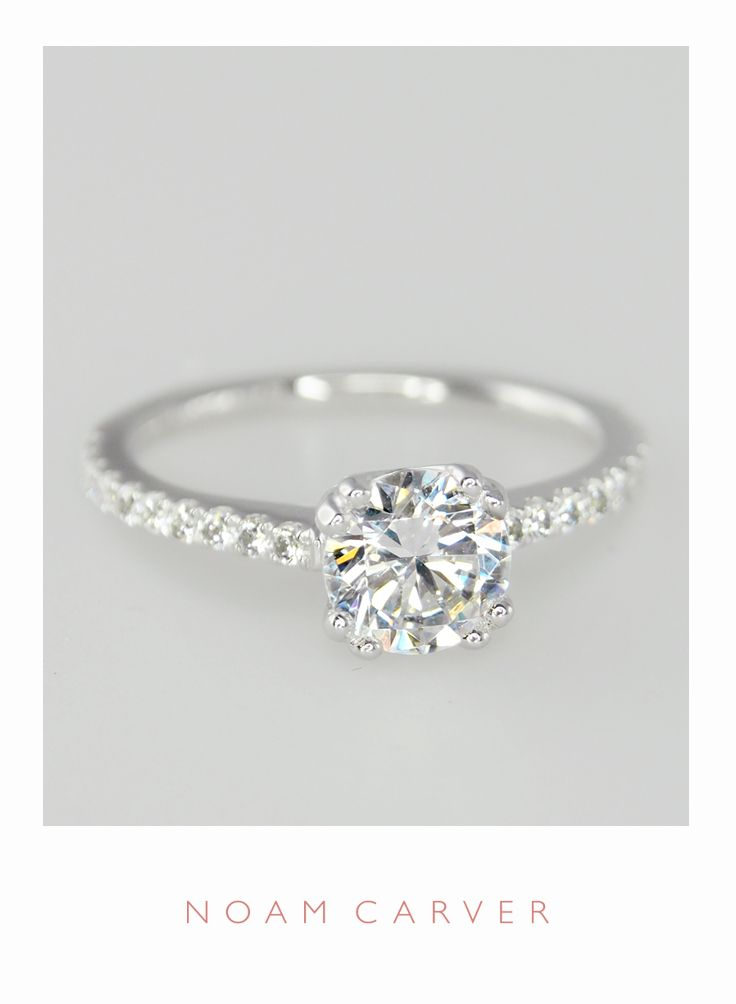 a classic solitaire for a classic bride designer engagement rings by noam carver model - Classic Wedding Rings