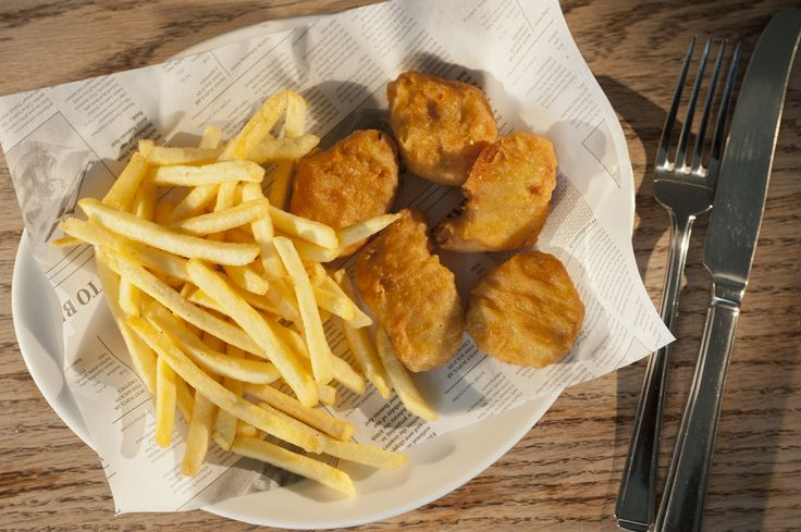 The Beach Deck Battered Chicken Nuggets: 4.95. w/ skinny fries