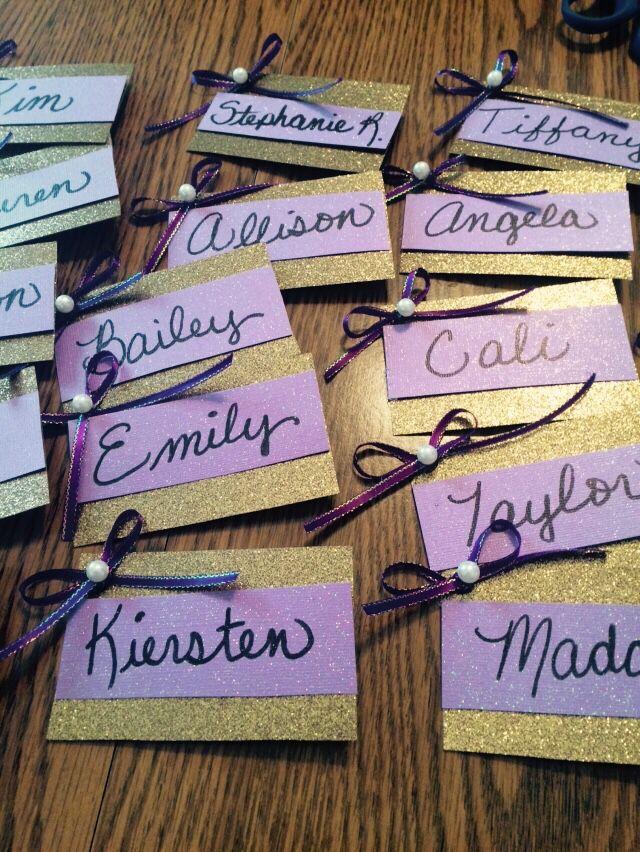 Recruitment name tags for delta phi epsilon! Sorority name tags!