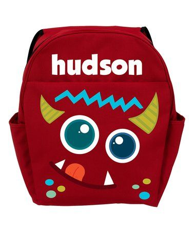 Love this Red Monster Personalized Backpack on #zulily! #zulilyfinds