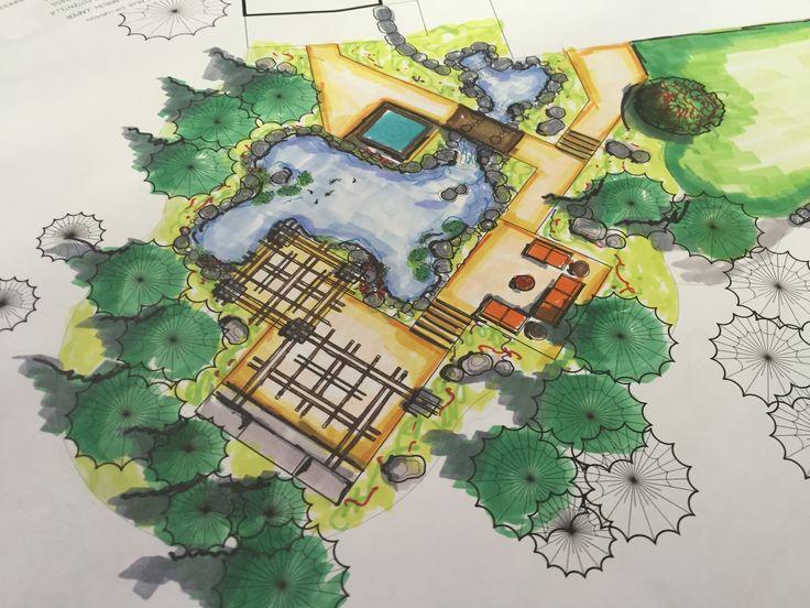 Hiner Landscapes Color Rendering landscapedesign Garden
