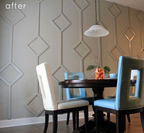 DIY: Dining Nook Diamond Wall Design