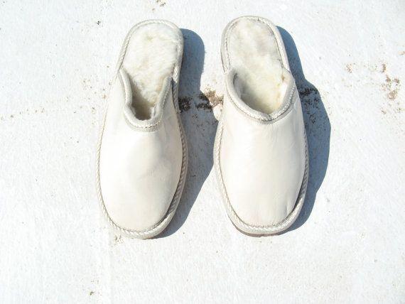 Kids slippers/SIZE E.U. 34/Fur slippers/Napa by EATHINI on Etsy