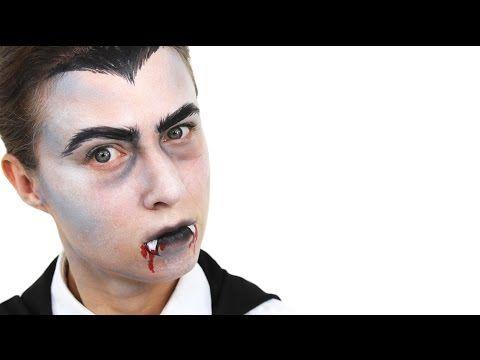 Halloween Vampire (Dracula) Face Paint Tutorial | Snazaroo - YouTube