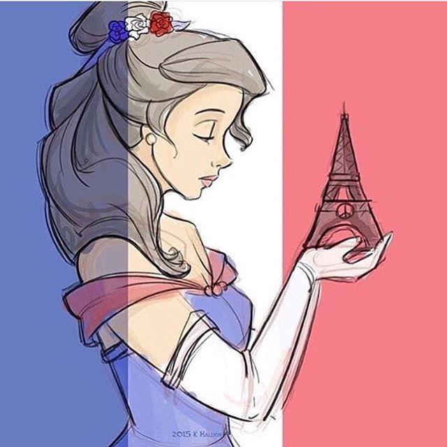 Thinking Of Paris Art By Karen Hallion