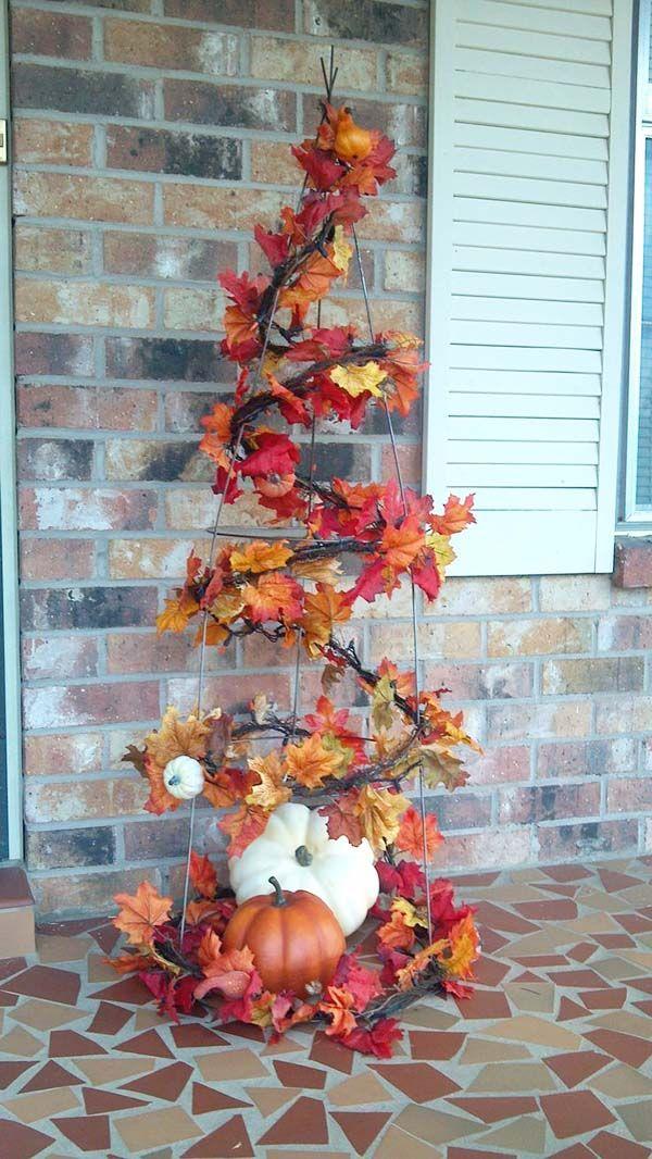40 erstaunliche Herbst-inspirierte Veranda Ideen