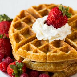 Classic Buttermilk Waffles - Homemade waffles are such a great treat and making them completely from scratch takes maybe 2 or 3 minutes longer than making them with a baking mix. You probably have all of the ingredients you need in your pantry already, so grab some buttermilk from the store, and get whisking!
