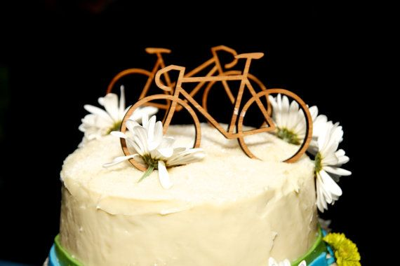Wedding Cake Bike Toppers by studiotomi on Etsy, $20.00