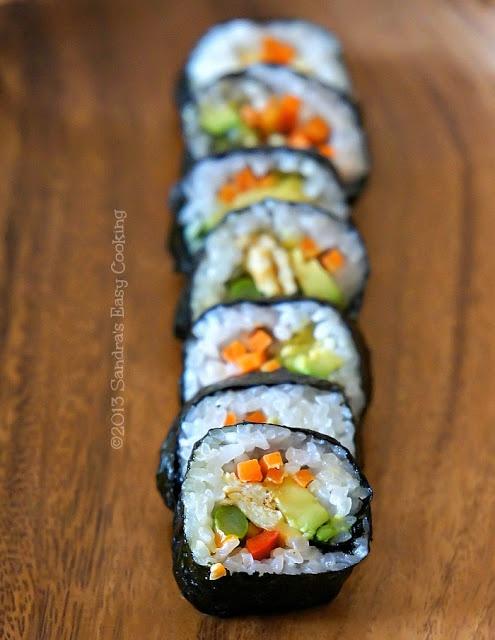 Kimbap-delicious homemade picnic finger food @SECooking | Sandra