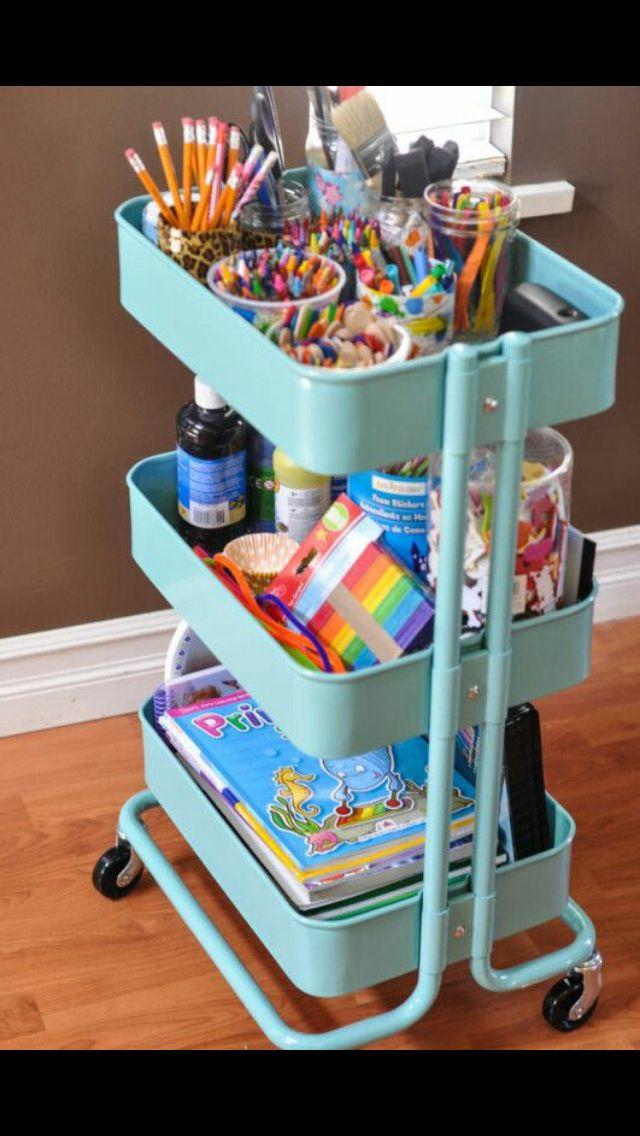 Art supplies rack