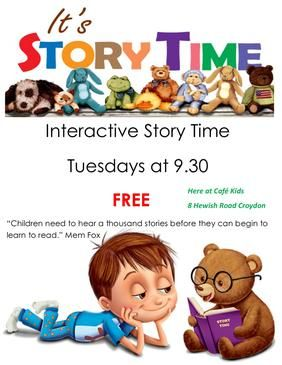 FREE Interactive Storytime at Cafe Kids Boutique Croydon