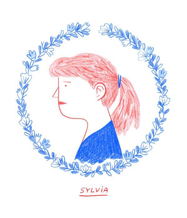 Sylvia Plath by Nico González