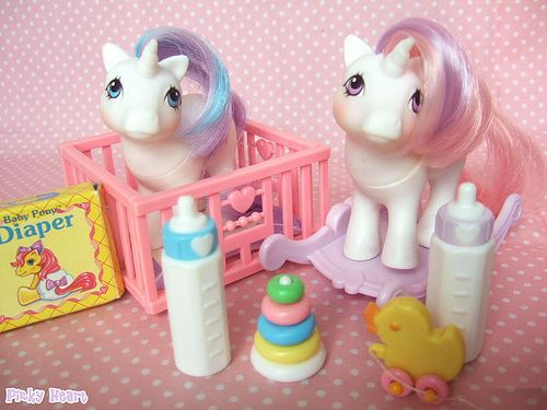 My little pony babies! Baby Glory and baby Moondancer :) <3 I had these!!! Was so excited to get them for my 7th birthday