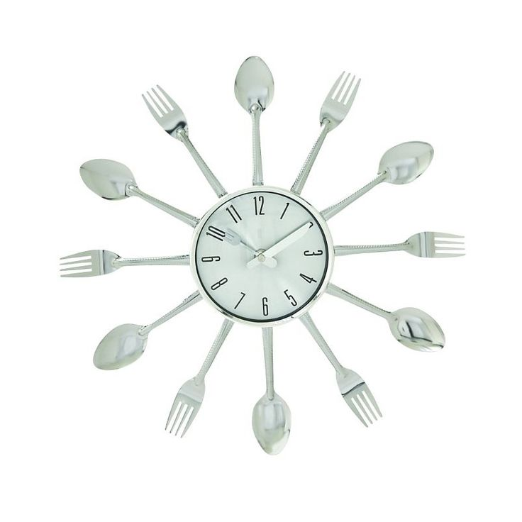 """15"""" Metal Kitchen Wall Clock"""