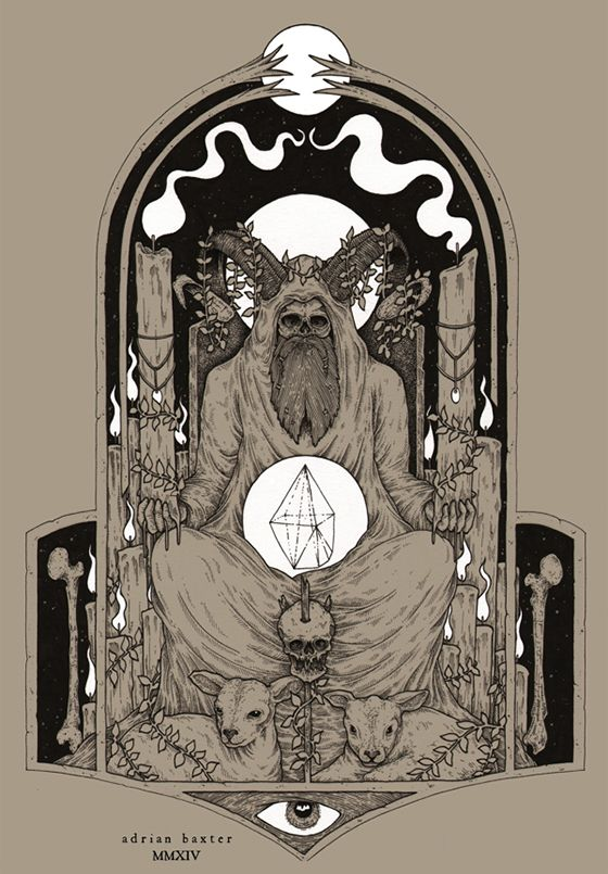Juxtapoz Magazine - Adrian Baxters Dark Illustrations
