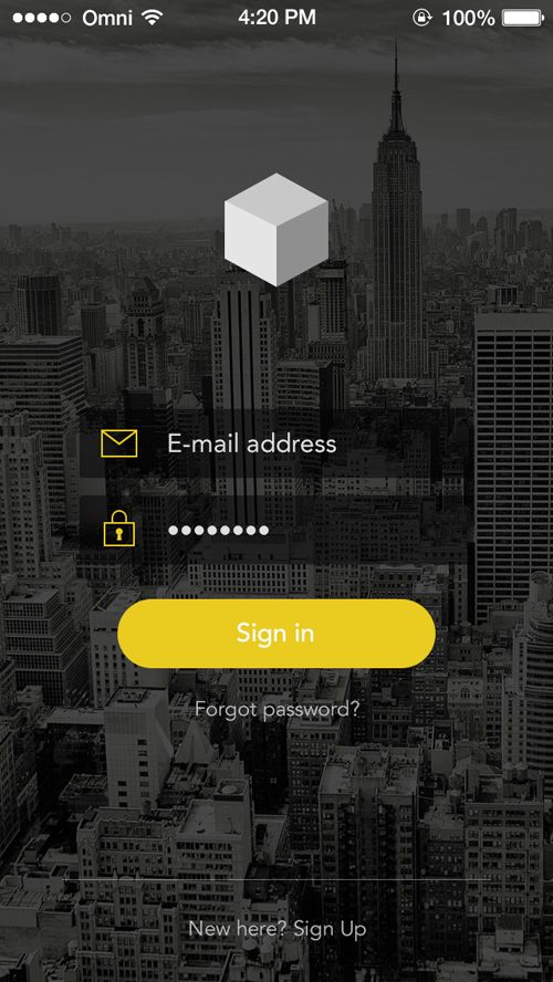 Sign In / Login UI Designs | Inspiration | Graphic Design Junction