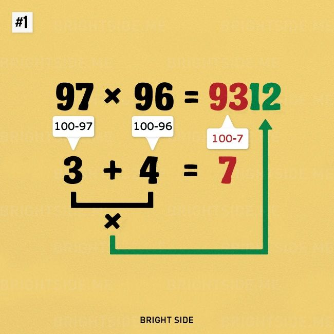 It's not entirely your fault if you're terrible at math — maybe you just didn't know the tricks to make any math problem a piece of cake! Well, now you do, because Bright Side has brought you a list of simple math tricks.Multiplying large numbers in your headLearning the nine times tableThe butterfl