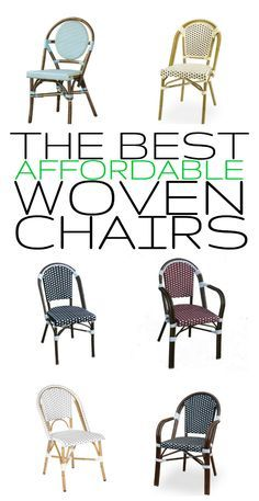 Affordable woven wicker outdoor chairs